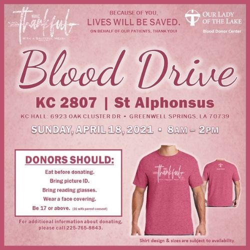 April Blood Drive
