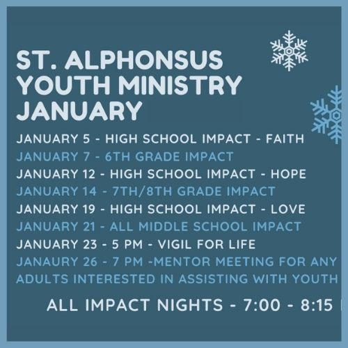January Youth Events