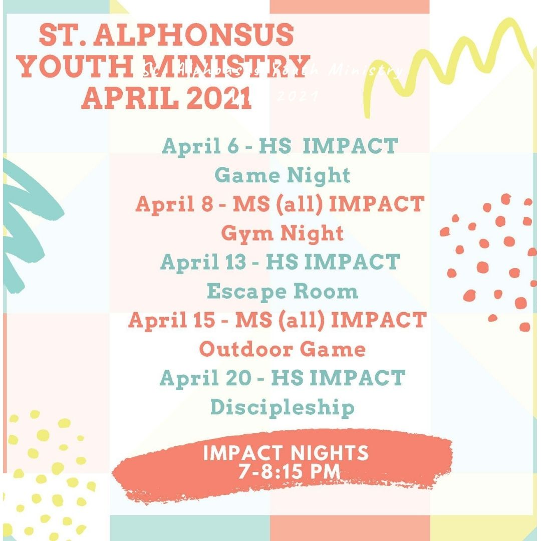 Youth Ministry April 2021